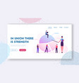 business meeting in office website landing page vector image vector image