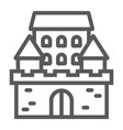 castle line icon architecture and fort vector image vector image