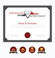 Certificate template layout background frame desig vector image vector image