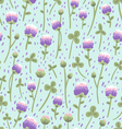 Clover pattern vector image