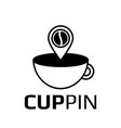 coffee pointer icon logotype pin vector image vector image