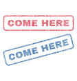 come here textile stamps vector image vector image