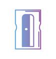 contour sharpener school tool design vector image vector image