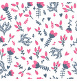 cute floral seamless pattern with berries spring vector image vector image