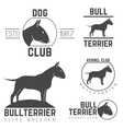 design logotypes labels set of bill terrier god vector image vector image
