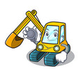 doctor excavator character cartoon style vector image vector image