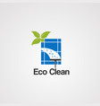 eco clean logo icon elementand template for vector image