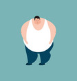 fat sad emotions stout guy sorrowful isolated vector image vector image
