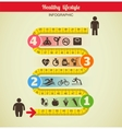 Fitness and diet infographic with measure tape vector | Price: 1 Credit (USD $1)