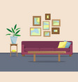 flat with a sofa vector image