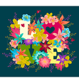 flowers love vector image vector image
