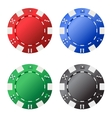 Four gambling chips vector image