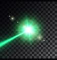 green laser beam vector image vector image