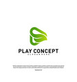 green play logo design concept nature play logo vector image vector image