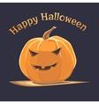 Halloween emoticon face pumpkin vector image vector image