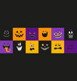 halloween funny weird cute scary characters vector image