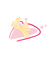 happy valentine day icon with pink heart vector image vector image