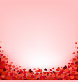hearts border with pink background vector image vector image