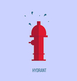 hydrant in a flat style vector image