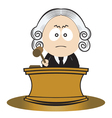 judge using his gavel vector image vector image