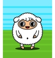 Kawaii sheep character vector image