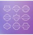 Linear emblems vector image vector image