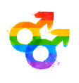 male gender symbol of homosexuality vector image
