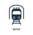 metro icon in flat style icon design vector image vector image
