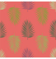 modern tropical palm leaves seamless pattern vector image