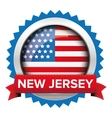 New Jersey and USA flag badge vector image