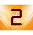 number two icon symbol Flat modern web design with vector image