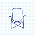 of camping symbol on chair vector image vector image