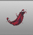 red wine splash or swash image realistic vector image