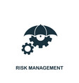 risk management icon creative element design from vector image vector image