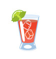 sea breeze cocktail isolate on a white background vector image