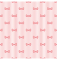 Seamless pattern bows on pink strips background vector image vector image