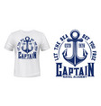 ship anchor marine nautical t-shirt print vector image