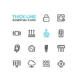 Smart House - Thick Single Line Icons Set vector image