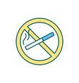 smoking ban rgb color icon vector image