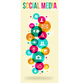 Social media colorful banner vector image