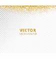 sparkling glitter border frame falling golden vector image vector image
