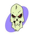 spooky skull vector image vector image
