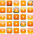 Square orange arrow icons vector image vector image
