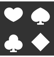 Suits of playing cards vector image vector image