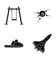 swings fertilization and other web icon in black vector image