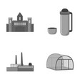 travel oil refining and other monochrome icon in vector image vector image