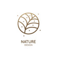 tropical plant round logo vector image vector image