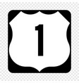 united states highway shield vector image vector image