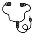 wired earphones vector image vector image