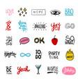 friendship party artwork set vector image
